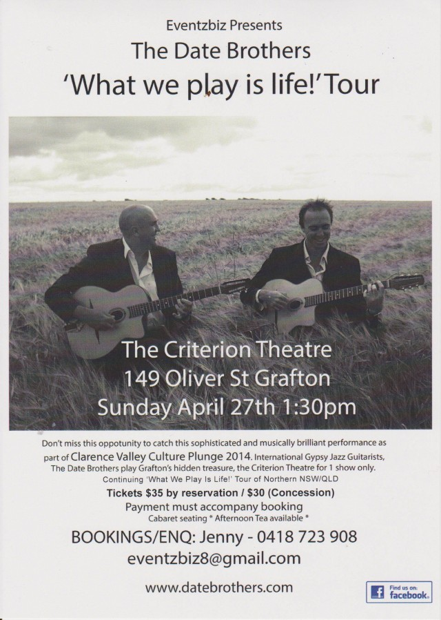 Date Brothers final Grafton poster 2014